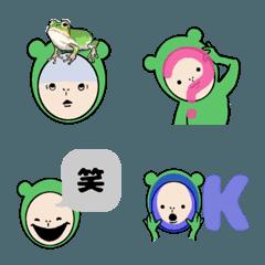 蛙人間のシンプルな使える絵文字。