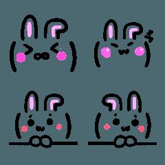 顔文字 絵文字 4【うさぎ耳付バージョン】