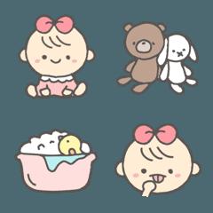 ママベビー赤ちゃん絵文字!(女の子ママ)