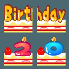 数字のろうそくで誕生日お祝い