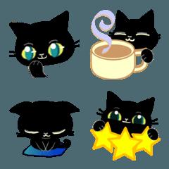 黒猫ちゃん・便利な絵文字。