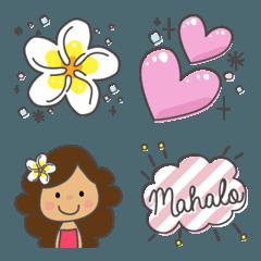 ハワイとフラガールの絵文字