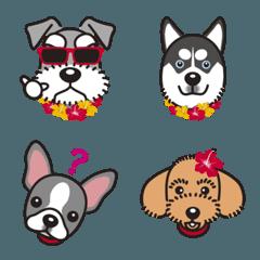 シュナウザー犬ロッキーと散歩友達の絵文字