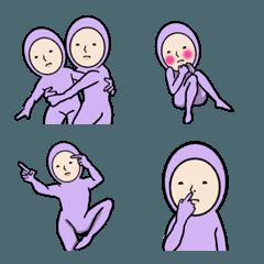 紫人間の機敏に動くキモ可愛絵文字2