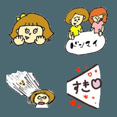 pocaママ☆女の子たちの絵文字 2