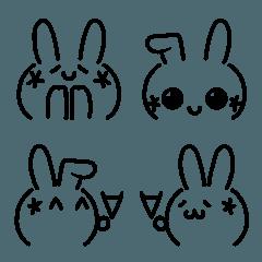 うさぎの顔文字2