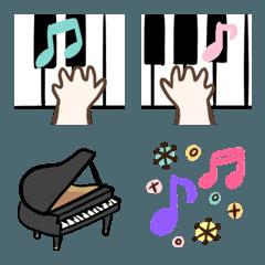 シンプルなピアノの絵文字