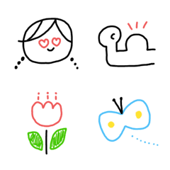 使いやすいボールペン手描き風絵文字(2)