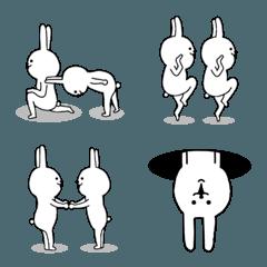 シュールなうさぎの絵文字②