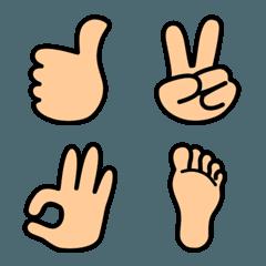 指先で伝えるメッセージ絵文字