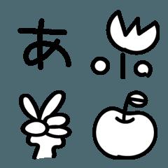 シンプルな手書き絵文字