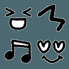 モノクロ絵文字