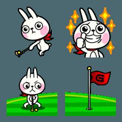 ゴルフ 絵文字 -ウサギ魂-