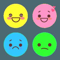 毎日使えるカラフルな表情