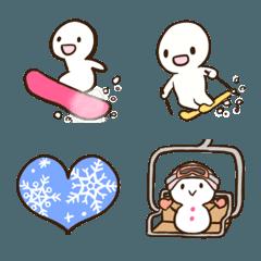 スキー&スノボ絵文字