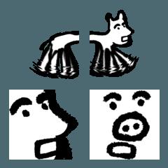 セイのイヌとイノシシの絵文字