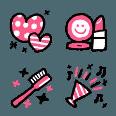 使いやすい!ピンクな絵文字