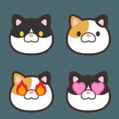 ぶち猫と三毛猫の絵文字
