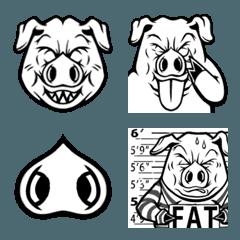 Greedy Pig のいつもの生活【絵文字】