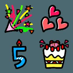 Happy Birthday☆誕生日絵文字☆お祝いに☆