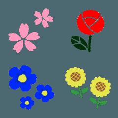 彩りかわいい♥お花絵文字