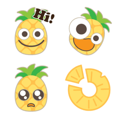 ハッピー パイナップル【絵文字】