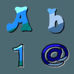 Deco-Moji(Alphameric):Cold color Vol.1
