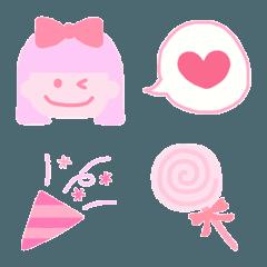 ピンク&パープルのかわいい絵文字2