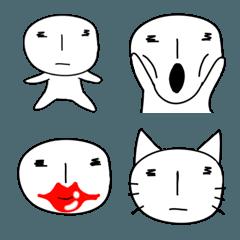 シンプルで変な顔の顔文字と絵文字
