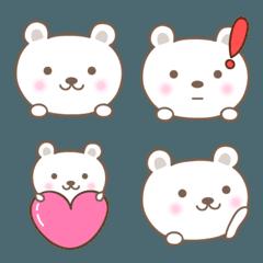 大人かわいいシロクマの絵文字 bear emoji