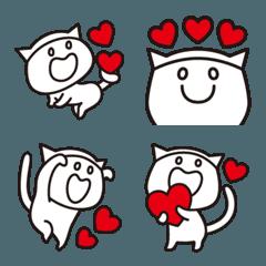 ハートで気持ち伝わる猫絵文字【L】絵文字