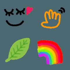 simple emoji~水彩~