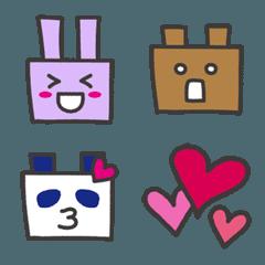四角い動物の絵文字