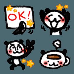 使いやすい!手描きパンダの絵文字 4