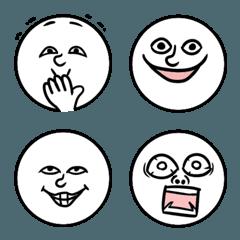 シンプル丸顔絵文字