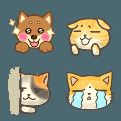 ネコとイヌ絵文字