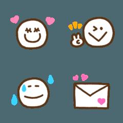 手書きシンプル&カラフルな絵文字