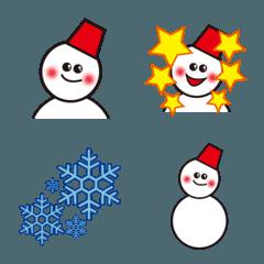 冬はやっぱり雪だるま絵文字