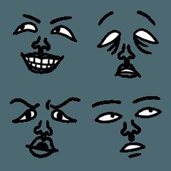 表情豊かな顔絵文字
