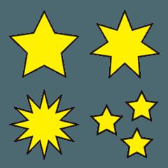 カラフルな星たち