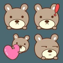 大人かわいいクマの絵文字 bear emoji