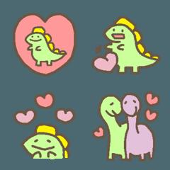 かわいい恐竜さんのパステル絵文字2