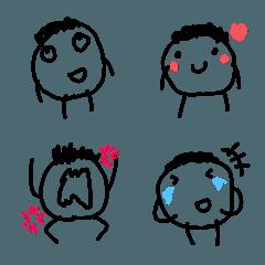 かわいい子どもの落書き風絵文字(2)