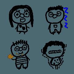 かわいい子どもの落書き風絵文字(3)