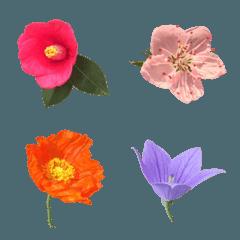 大人の文章に添える花々