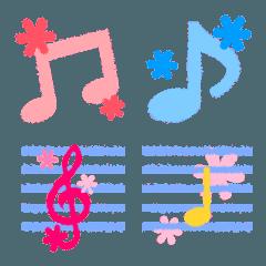 かわいい音符と楽譜セット♪