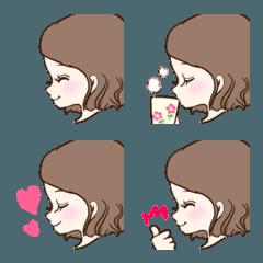 大人可愛い♡横顔の絵文字