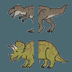 のしのし歩く恐竜たち
