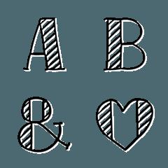 【ナチュデザ】 アルファベット 英語 数字