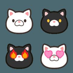 白猫と黒猫の絵文字